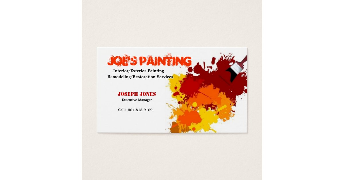 Painting Service Business Cards & Templates | Zazzle