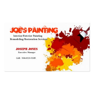 Painting Business Card-Sample II Double-Sided Standard Business Cards (Pack Of 100)