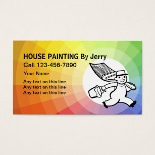 House painting business cards gallery business card template house painting contractor business cards templates zazzle painting business cards colourmoves gallery colourmoves Images