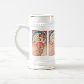 """""""Painting"""" by Alphonse Mucha, 1898 Beer Stein"""