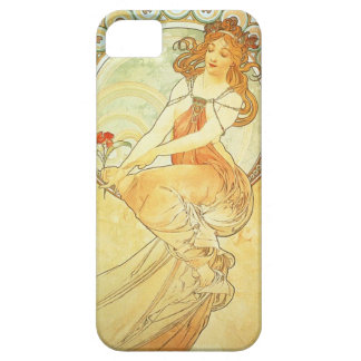 Painting by Alphonse Mucha iPhone SE/5/5s Case