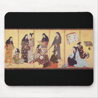 Painting by Iwasa Matabei c. 1650 Japan Mouse Pad