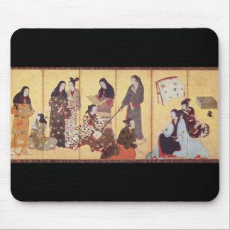 Painting by Iwasa Matabei c. 1650 Japan Mousepads