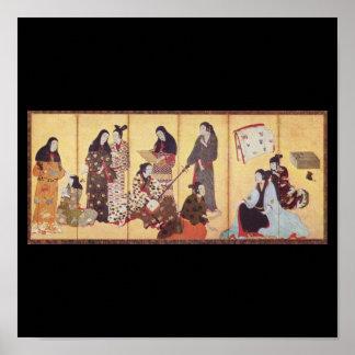 Painting by Iwasa Matabei c. 1650 Japan Poster