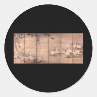 Painting by Miyamoto Musashi c 1600 s Sticker