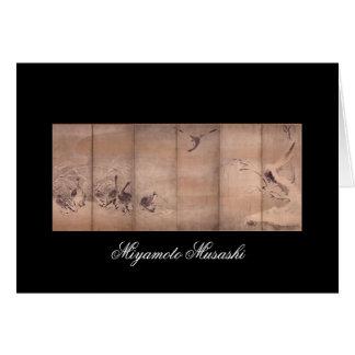 Painting by Miyamoto Musashi, c. 1600s Cards