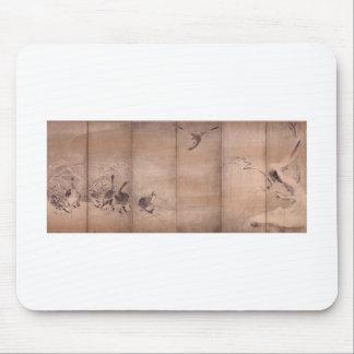 Painting by Miyamoto Musashi, c. 1600's Mousepad