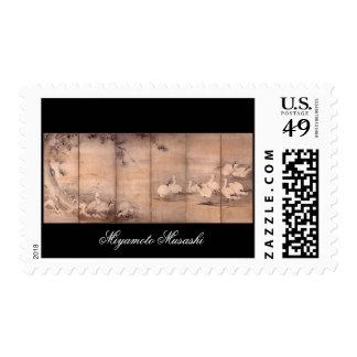 Painting by Miyamoto Musashi, c. 1600s Postage Stamps