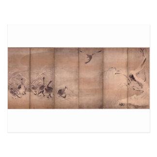 Painting by Miyamoto Musashi, c. 1600's Post Cards