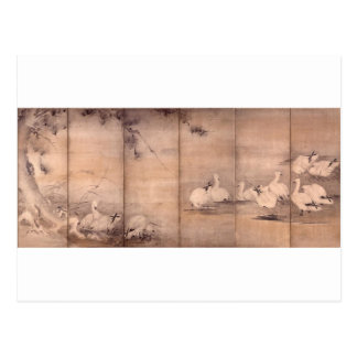 Painting by Miyamoto Musashi, c. 1600's Post Card