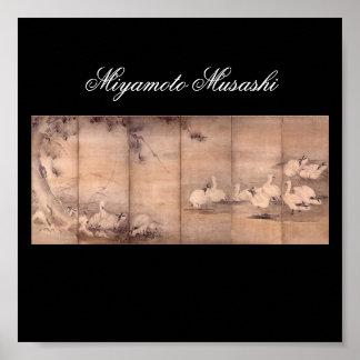 Painting by Miyamoto Musashi, c. 1600's Print