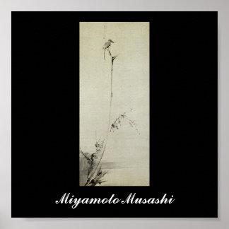Painting by Miyamoto Musashi, c. 1600's Posters
