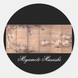 Painting by Miyamoto Musashi c 1600s Sticker