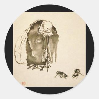 Painting by Miyamoto Musashi c 1600s Stickers