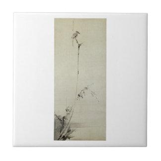 Painting by Miyamoto Musashi, c. 1600's Tile