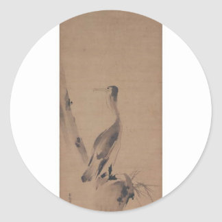 Painting by Miyamoto Musashi circa 1600 s Stickers