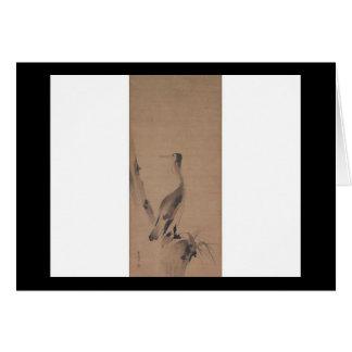 Painting by Miyamoto Musashi, circa 1600's Greeting Cards