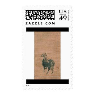 Painting by Miyamoto Musashi, circa 1600's Postage Stamps