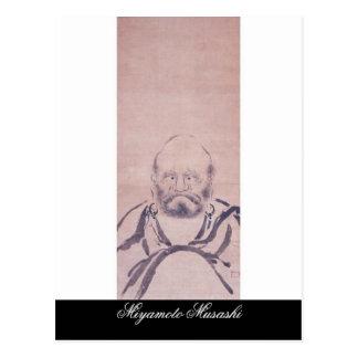 Painting by Miyamoto Musashi circa 1600's Postcard