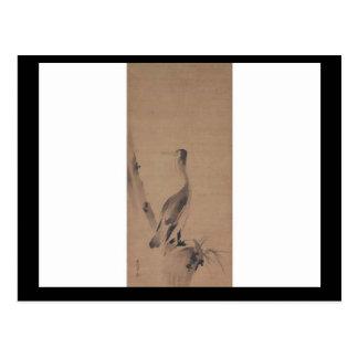 Painting by Miyamoto Musashi, circa 1600's Postcard