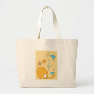 Painting Cat Large Tote Bag