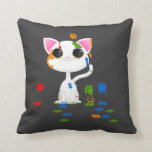 Painting cat pillow