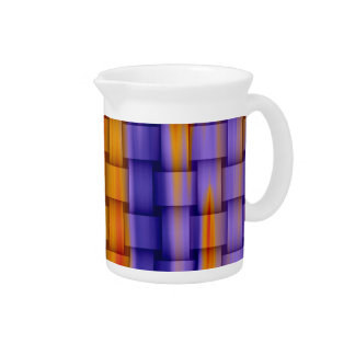 Painting colorful stripes wicker graphic design pitcher