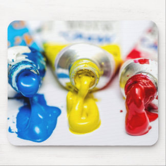 Painting Colors Tubes Macro Mousepad