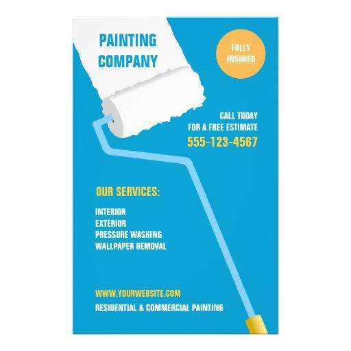 "Painting Company/aviador del contratista Folleto 5.5"" X 8.5"""
