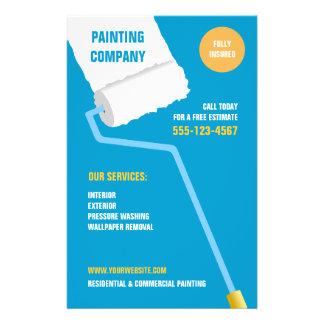 Painting Company aviador del contratista Tarjeton