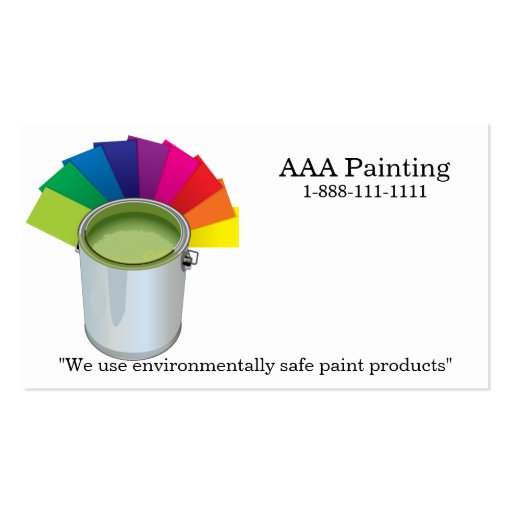 Painting company business card templates zazzle for Painter business card template