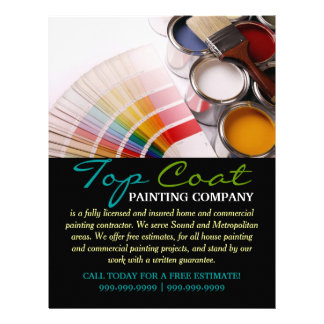 Painting Company Construction Business Flyer Letterhead