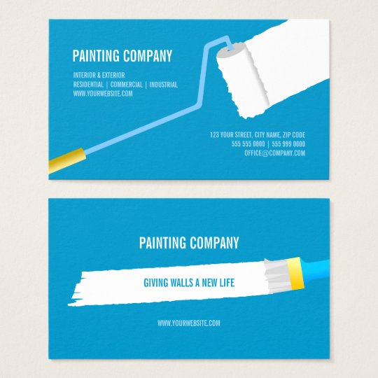 Painting Company Contractor Home Makeover Business Card