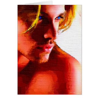 Painting Cute Blonde Hunk Cards