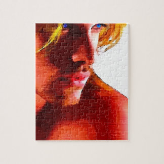 Painting: Cute Blonde Hunk Puzzle