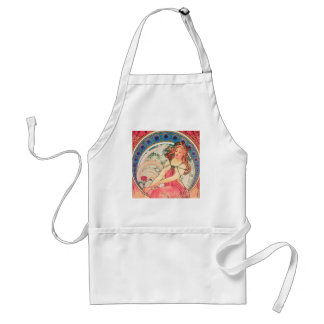 """""""Painting"""" (detail) from The Arts Series by Mucha Adult Apron"""