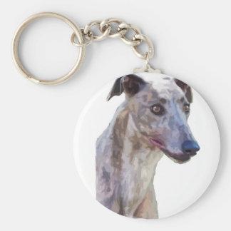 Painting Dog Key Chain