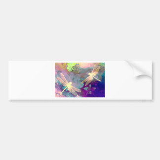 Painting Dragonflies Bumper Sticker