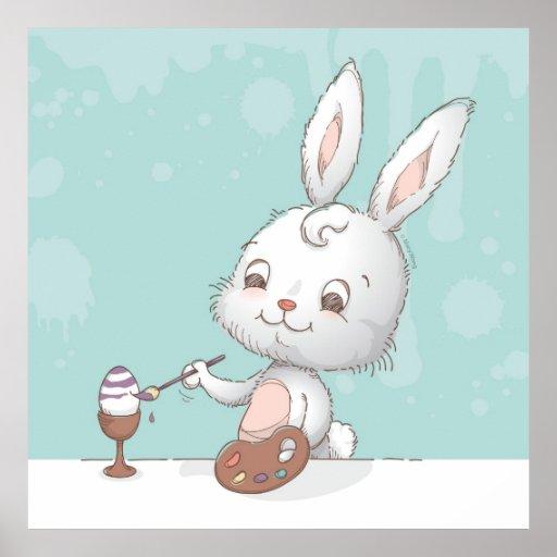 Painting eggs print