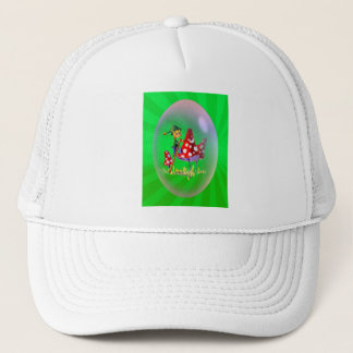 PAINTING ELF & LIGHT RAYS by SHARON SHARPE Trucker Hat