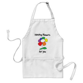 """""""Painting Flowers"""" by All Time Low Adult Apron"""