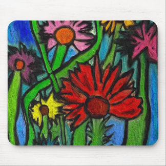Painting Flowers Through Autistic Eyes Mouse Pad