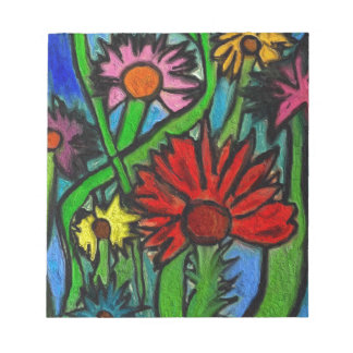 Painting Flowers Through Autistic Eyes Notepad