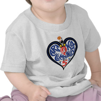 Painting for Miracles Heart T-shirt