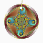 Painting - Fractal Art Ceramic Ornament