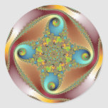 Painting - Fractal Art Classic Round Sticker