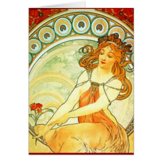 Painting. From The Arts Series by Mucha Greeting Card