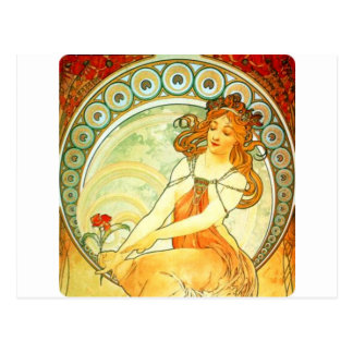 Painting. From The Arts Series by Mucha Postcard