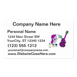painting guitar abstract colorful purple.png Double-Sided standard business cards (Pack of 100)