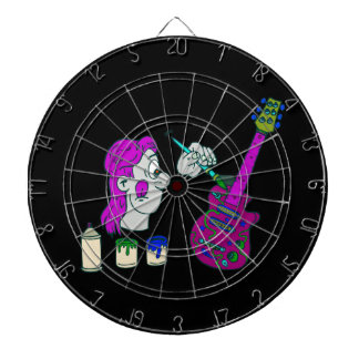 painting guitar abstract colorful purple.png dart board